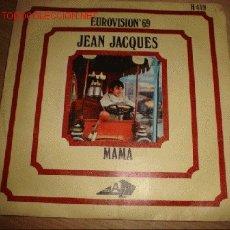 Discos de vinilo: DISCO SINGLE -JEAN JACQUES- EUROVISIÓN 69. AÑO 1969.. Lote 1206585