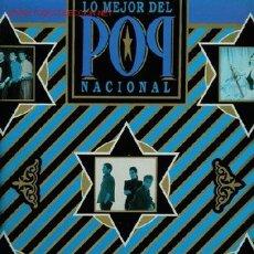 Discos de vinilo: DISCO DE VINILO L. P. DE LO MEJOR DEL POP NACIONAL: HOMBRES G, ALASKA Y DINARAMA, MECANO, LOQUILLO Y. Lote 25332474