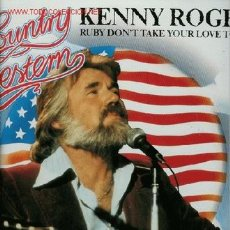 Discos de vinilo: DISCO DE VINILO L. P. DE KENNY ROGERS, COUNTRY WETERN: TRYING JUST AS HARD, HEAD THE CALL, POEM FOR . Lote 25332476