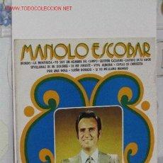 Discos de vinilo: MANOLO ESCOBAR. Lote 1665703