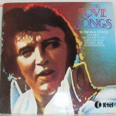 Discos de vinilo: ELVIS PRESLEY ( ELVIS LOVE SONGS ) 1979-FINLANDIA LP33 K-TEL. Lote 1245504