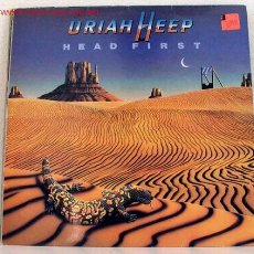 Discos de vinilo: URIAH HEEP ?– HEAD FIRST, UK 1983 BRONZE. Lote 1245518