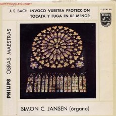 Discos de vinilo: SIMON C. JANSEN (ORGANO) J.S.BACH. Lote 1290479