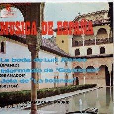 Discos de vinilo: MUSICA DE ESPAÑA. Lote 1292058