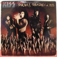 Discos de vinilo: KISS ( SMASHES, THRASHES & HITS ) LP33 CANADA-1988. Lote 1310179