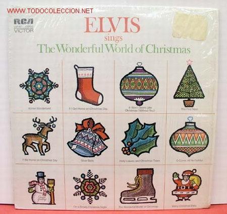ELVIS PRESLEY ( ELVIS SINGS 'THE WONDERFUL WORLD OF CHRISTMAS ) LP33 USA-1971 RCA AN L1-1936 (Música - Discos - LP Vinilo - Rock & Roll)