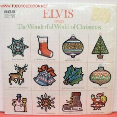 Discos de vinilo: ELVIS PRESLEY ( ELVIS SINGS 'THE WONDERFUL WORLD OF CHRISTMAS ) LP33 USA-1971 RCA AN L1-1936. Lote 23385911