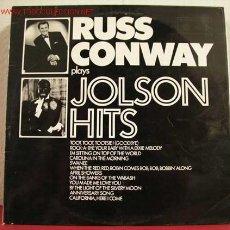 Discos de vinilo: RUSS CONWAY PLAYS JOLSON HITS ENGLAND LP33. Lote 1379857