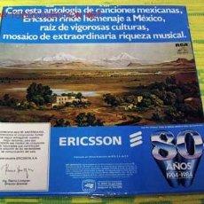 Discos de vinilo: ERICCSON RINDE OHOMENAJE A ''MEXICO'' CAJA CON TRES LP33. Lote 1398143
