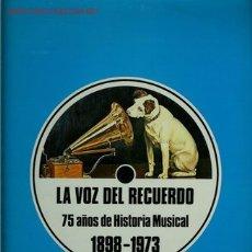 Discos de vinilo: DISCO DE VINILO L.P. DE LA VOZ DEL RECUERDO, 75 AÑOS DE HISTORIA MUSICAL (1898 – 1973): CARLOS GARDE. Lote 25213659