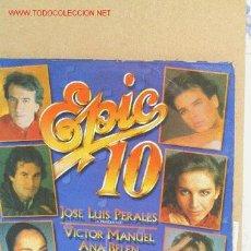 Discos de vinilo: EPIC 10 AÑO 1986. Lote 2176556