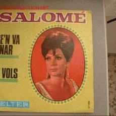 Discos de vinilo: SINGLE DE LA SOISTA ESPAÑOLA SALOME,DEL AO 1968 DE LA CASA DE DISCOS BELTER.. Lote 5639200