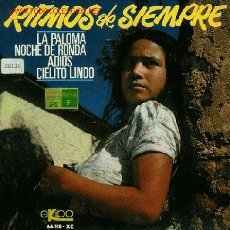 Discos de vinilo: DISCO SENCILLO DE RITMOS DE SIEMPRE: LA PALOMA, NOCHE DE RONDA, ADIÓS Y CIELITO LINDO. GRAN ORQUESTA. Lote 25705303