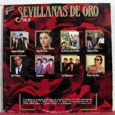 Discos de vinilo: SEVILLANAS DE ORO VOL.19 SPAIN-1989 LP33 DOBLE ( CANTORES DE HISPALIS, MARIA DEL MONTE. Lote 1596273