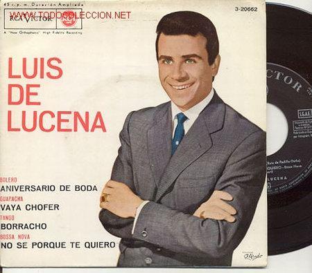 EP 45 RPM / LUIS DE LUCENA / ANIVERSARIO DE BODA / EDITADO POR RCA 1963 / COMO NUEVO (Música - Discos de Vinilo - EPs - Solistas Españoles de los 50 y 60)