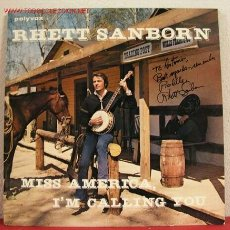 Discos de vinilo: RHETT SANBORN ( MISS AMERICA, I'M CALLING YOU ) LP33. Lote 1610178
