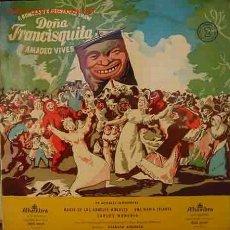 Discos de vinilo: DOÑA FRANCISQUITA AMADEO VIVES. Lote 21311013
