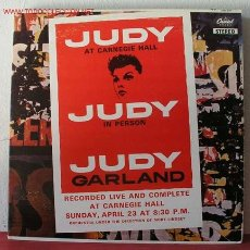 Discos de vinilo: JUDY GARLAND ( JUDY AT CARNEGIE HALL ) CANADA LP33 DOBLE. Lote 13157463