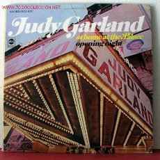 Discos de vinilo: JUDY GARLAND ( JUDY GARLAND AT HOME AT THE PALACE OPENING NIGHT ) USA LP33. Lote 2267340