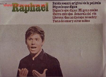 RAPHAEL DISCO LP BANDA SONORA ORIGINAL (Música - Discos - LP Vinilo - Solistas Españoles de los 50 y 60)