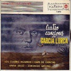 Discos de vinilo: CUATRO CANCIONES DE GARCIA LORCA DISCO EP. Lote 24689746