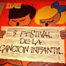 Discos de vinilo: DISCO LP - 5º FESTIVAL DE LA CANCIÓN INFANTIL TVE - AÑO 1973.. Lote 1726241