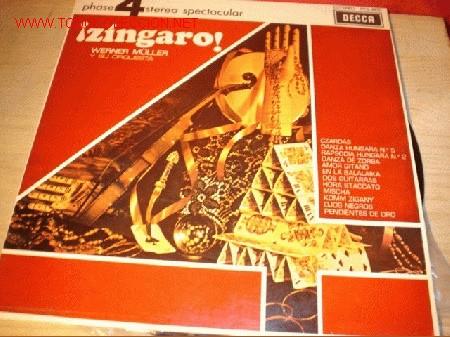 DISCO LP - ¡ZÍNGARO! - WERNER MÜLLER Y SU ORQUESTA. AÑO 1970. (Música - Discos - LP Vinilo - Orquestas)