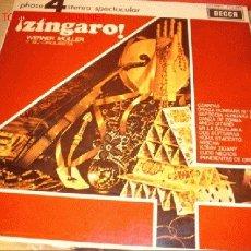 Discos de vinilo: DISCO LP - ¡ZÍNGARO! - WERNER MÜLLER Y SU ORQUESTA. AÑO 1970.. Lote 1729782