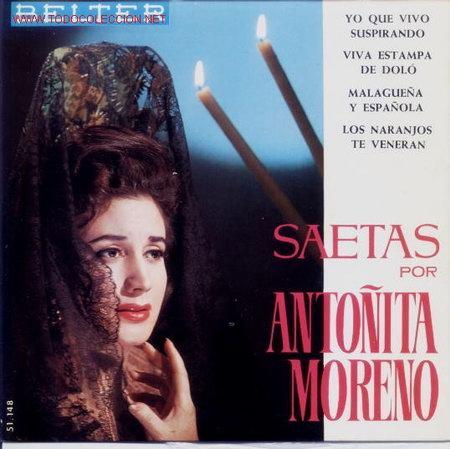 ANTOÑITA MORENO.SAETAS (Música - Discos - Singles Vinilo - Flamenco, Canción española y Cuplé)
