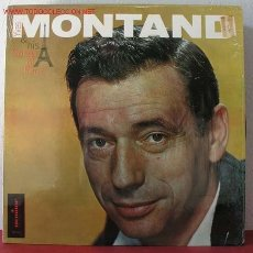 Discos de vinilo: YVES MONTAND & HIS ' SONGS OF PARIS' USA LP33. Lote 1763880