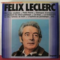 Discos de vinilo: FELIX LECLERC ( FELIX LECLERC ) FRANCE-1967 LP33. Lote 1763932
