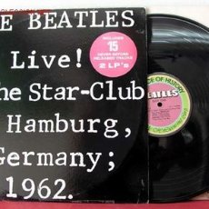 Discos de vinilo: THE BEATLES – LIVE! AT THE STAR-CLUB IN HAMBURG, GERMANY; 1962., 2 LPS, US 1977 LINGASONG. Lote 10822845