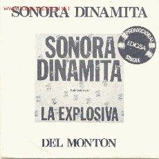 Discos de vinilo: UXV SONORA DINAMITA - LA EXPLOSIVA - SINGLE PROMOCIONAL- CANTA: LUCHO ARGAIN. Lote 26992765