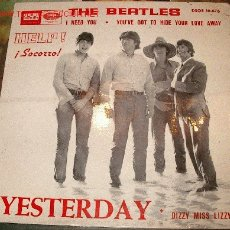 Discos de vinilo: THE BEATLES HELP / YESTERDAY - 33 RPM SINGLE . Lote 9228580