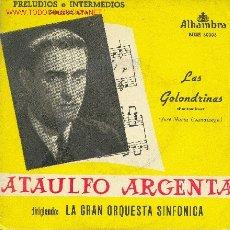 Discos de vinilo: UXV ATAULFO ARGENTA - LAS GOLONDRINAS - PANTOMINA- (JOSÉ MARIA USANDIZAGA). Lote 26196883