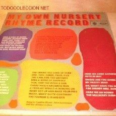 Discos de vinilo: DISCO LP MUSIC FOR PLEASURE - MY OWN NURSERY RHYME RECORD -. AÑOS 67. . Lote 1898601