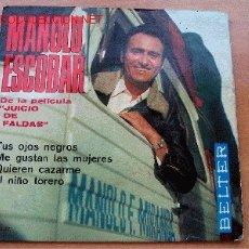 Discos de vinilo: MANOLO ESCOBAR - CANCIONES DE LA PELÍCULA JUICIO DE FALTAS. Lote 26046026