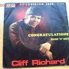 Discos de vinilo: CLIFF RICHARD - LA VOZ DE SU AMO - EUROVISIÓN 1968 - 45 RPM. Lote 26030214