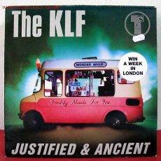 Discos de vinilo: THE KLF ( JUSTIFIED & ANCIENT ) 1991 LP33. Lote 1900192