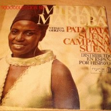 Discos de vinilo: DISCO SINGLE DE MIRIAM MAKEBA - PATA PATA - VERSIÓN ORIGINAL. AÑO 1968.. Lote 1919631