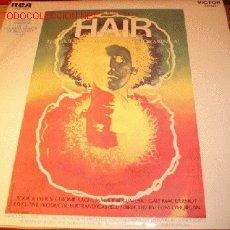 Discos de vinilo: LP VINILO HAIR THE AMERICAN TRIBAL LOVE ROCK MUSICAL, AÑO 69.. Lote 1942053