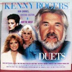 Discos de vinilo: KENNY ROGERS WITH KIM CARNES, SHEENA EASTON & DOTTIE WEST ' DUETS ' 1984 LP33 LIBERTY. Lote 1948007