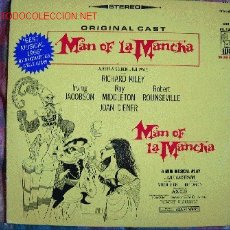 Discos de vinilo: LP-MAN OF LA MANCHA-ORIGINAL CAST-MUSIC BY MITCH LEIGH. Lote 24773419