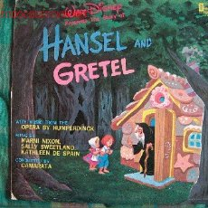 Discos de vinilo: LP-WALT DISNEY PRESENTS HANSEL AND GRETEL. Lote 1956352