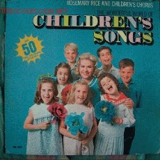 Discos de vinilo: LP-ROSEMARY RICE AND CHILDREN'S CHORUS-THE WONDERFUL WORLD OF CHILDREN'S SONGS. Lote 7609506