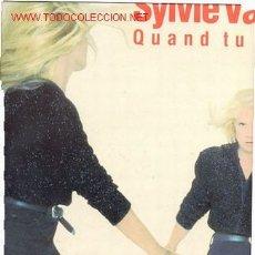 Discos de vinilo: LP MAXI 45 RPM / SYLVIE VARTAN / QUAND TU ES LA /// EDITADO POR RCA . Lote 16182417