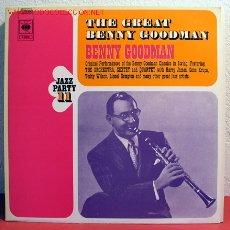 Discos de vinilo: BENNY GOODMAN - THE GREAT BENNY GOODMAN, NETHERLANDS 1972 LP CBS. Lote 2020434
