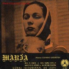 Discos de vinilo: MARÍA . Lote 2036049