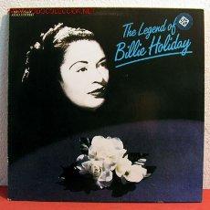 Discos de vinilo: BILLIE HOLIDAY - THE LEGEND OF BILLIE HOLIDAY, GERMANY 1985 LP MCA RECORDS. Lote 2038933