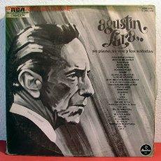 Discos de vinilo: AGUSTIN LARA SU PIANO, SU VOZ Y LOS SOLISTAS COLOMBIA-1953 LP33 TRIPLE. Lote 2043402